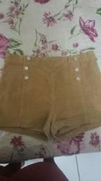 Troco shorts 12 anos semi novos