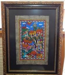 Quadro pintura indígena Mexicana
