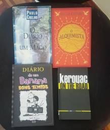 Livros Paulo coelho, diario de um Banana, Kerouac