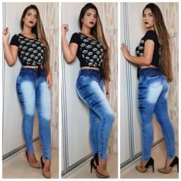 Calças jeans feminina com lycla (Elastano)melhor preço