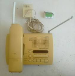 Telefone Sem Fio Uniden XCA 4500 25 Canais com Secretária Eletrônica Digital e Manual