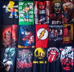 Camisas de bandas séries filmes animes