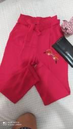 Calça Pantacourt Vermelha