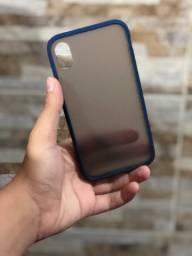 Case fosca para iPhone XR azul