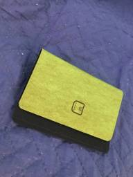 Porta Cartão vegano - verde musgo