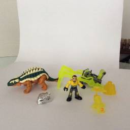 Fisher-price Imaginext Anquilossauro Dinossauro Playset Dos Engenhos Gear + Boneco