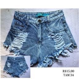 Título do anúncio: Desapego shorts jeans