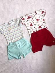 Conjunto de body e short baby