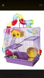 Gaiola Para Hamster 3 Andares Com Tubos Coloridos