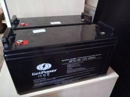 Título do anúncio: Duas (02) baterias Get Power estacionárias de 120Ah em perfeito funcionamento