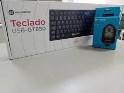 kit teclado goldentec - gt 850 e mouse multilaser mo300