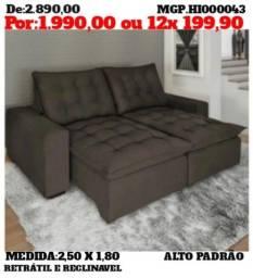 Sofa Alto Padrão - Sofa Grande - Sofa Retratil e Reclinavel 2,50 Alto Padrão-
