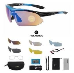 Título do anúncio: Óculos para ciclismo polarizado , bikes com 4 pares de lentes reserva rockbros