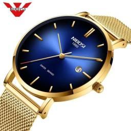 Nibosi moda masculina relógios de luxo (frete grátis)