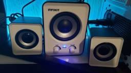 Caixa de som para pc e notebook 10w com subwoofer