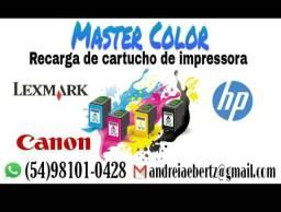 RECARGAS DE CARTUCHOS HP,CANON E LEXMARK, R$ 15,00 COLORIDO E R$ 10,00 O PRETO.