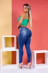 Calça Jeans Feminina Elástico Skinny Estilo Pit Bull.