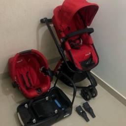 Kit 3 em 1 Carrinho Moisés Safety Mobi Full Red em 10x no CARTÃO
