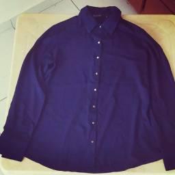 Camisa social feminina estilo camisão