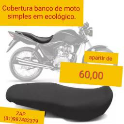 Cobertura banco de moto simples em couro ecológico