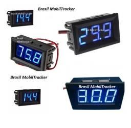Título do anúncio: Voltímetro Digital Automotivo/bateria 12-v/led Azul 30-vdc
