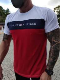 Camiseta Tommy masculina P M G GG malha PERUANA