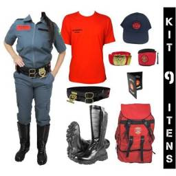 Título do anúncio: Vendo o kit de uniforme de bombeiro civil