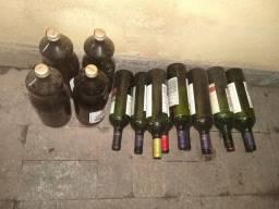 Título do anúncio: Garrafas Vazias de Suco de Uva e Vinho
