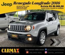 Título do anúncio: Jeep Renegade Longitude 2016 Automático Muito Novinha