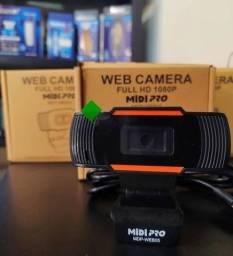Webcam Midi Pro MDP-WEB05 HD - Preta 1080p com microfone