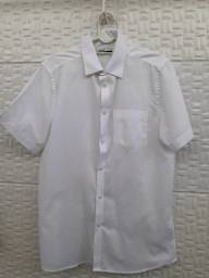 Camisa Branca Manga Curta - Social Masculina - Tam 1/P - Riachuelo Laville