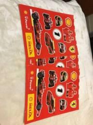 Título do anúncio: 3 cartelas adesivos Ferrari anos 2000
