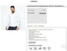 Camisa Dudalina branca tamanho 2
