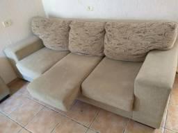 Sofá usado, de 3 e 2 lugares, todos retrateis