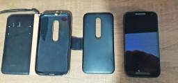 Moto G3 Preto 8GB, Dual Sim, Entrada MicroSD, Película de Vidro e Capa