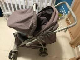 Carrinho e bebê conforto seminovo