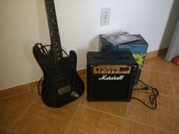Guitarra Jennifer + Amplificador Marshall