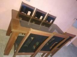 Mesa de janta de 6 cadeira
