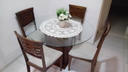Mesa com 4 cadeiras lar shopping