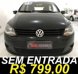 Volkswagen Fox 1.6 Itrend Único dono 2013 Preta