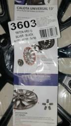 Calota Aro 13 Triton Silver Black ARO 13 4X100 - 4X108 - 5X100