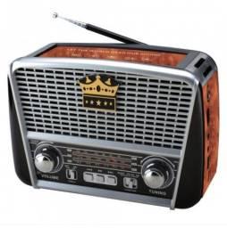 Radio Recarreg Retro Faixas Am Fm Sw Usb Bluetooth Lanterna