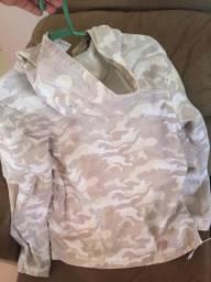 Blusa camuflada branco gelo, jaqueta top baraaaataa