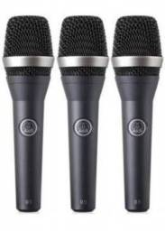 03 microfones AKG d5 seminovos