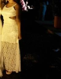 Título do anúncio: Vestido off white branco longo rendado