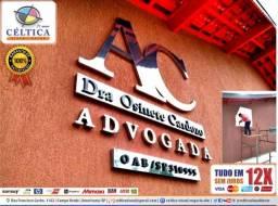 Título do anúncio: Letreiros Placas Acm Led Inox Acrílico Pvc Logomarca Logotipo Fachada Painel
