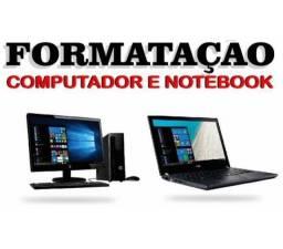 Formatação de notbook e computador em domicílios