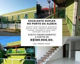 Excelente Duplex em São Pedro da Aldeia no Bairro do Porto da Aldeia. (Barato)