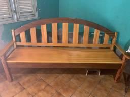 Banco sofá rústico de madeira