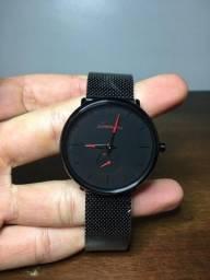 Relógio Crrju de Quartzo Minimalista Masculino Novo